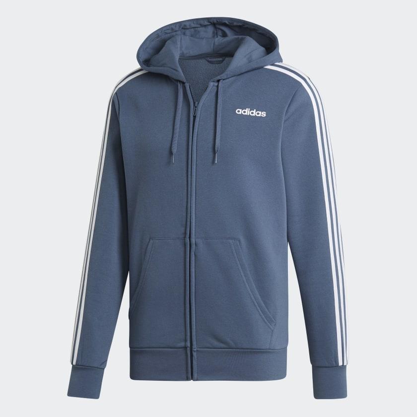 adidas Essentials 3-Stripes Fleece Hoodie Men/'s