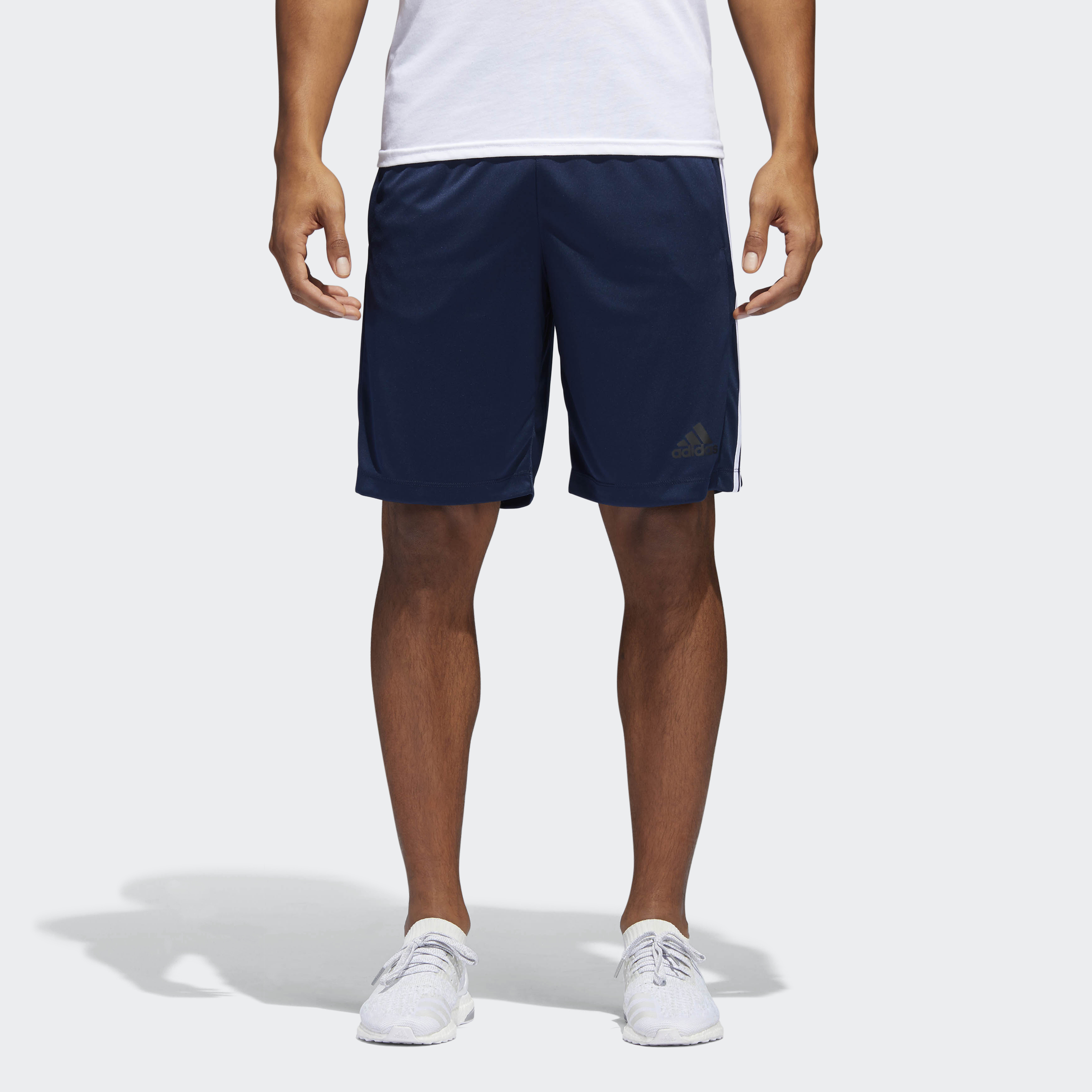 3-Pack adidas Men's D2M 3-Stripe Shorts - (Multiple Color / Size)
