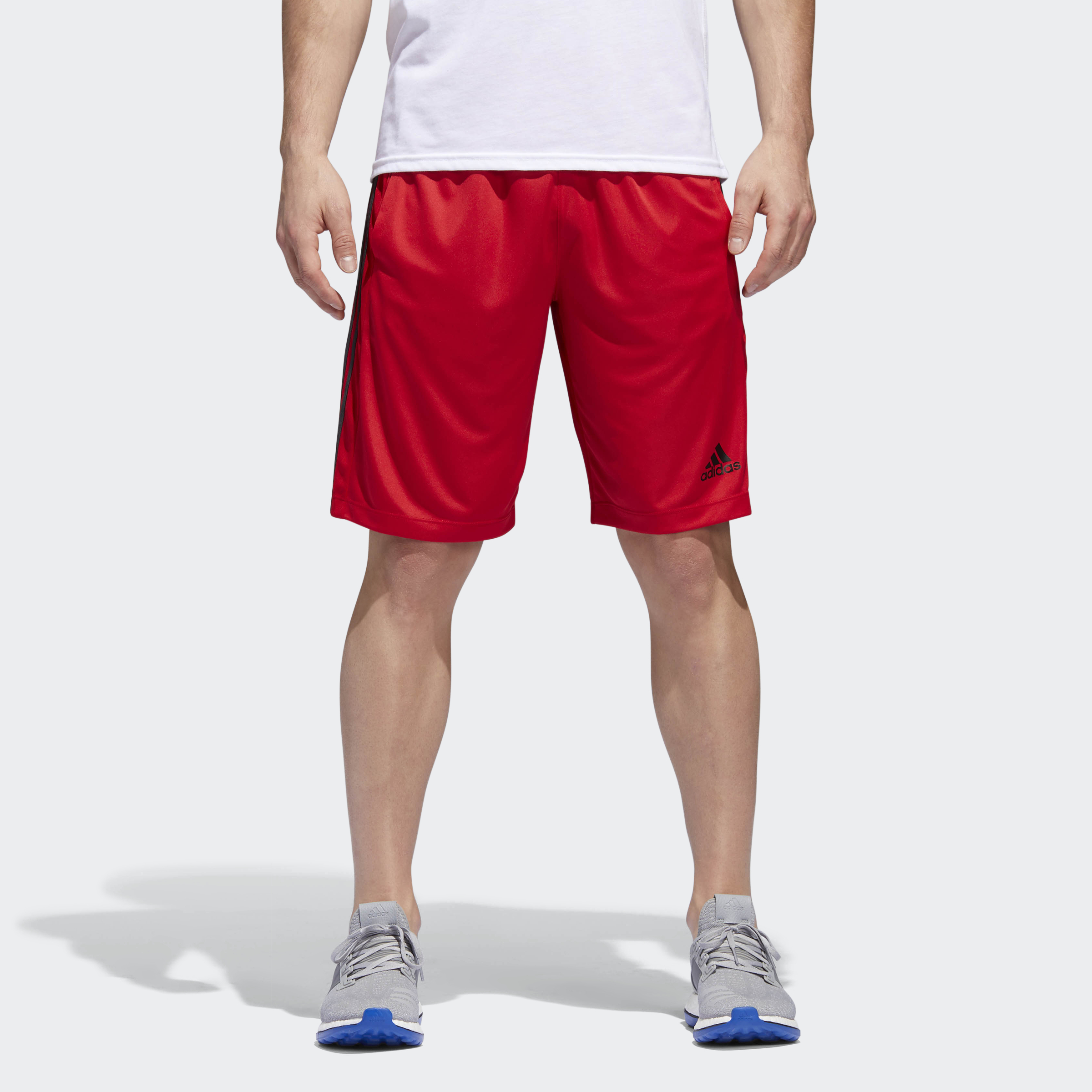adidas-D2M-3-Stripes-Shorts-Men-039-s thumbnail 31
