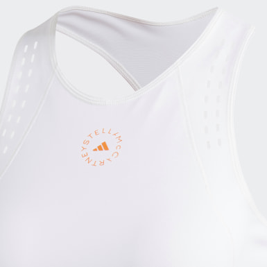 Women adidas by Stella McCartney White adidas by Stella McCartney TruePurpose Crop Top