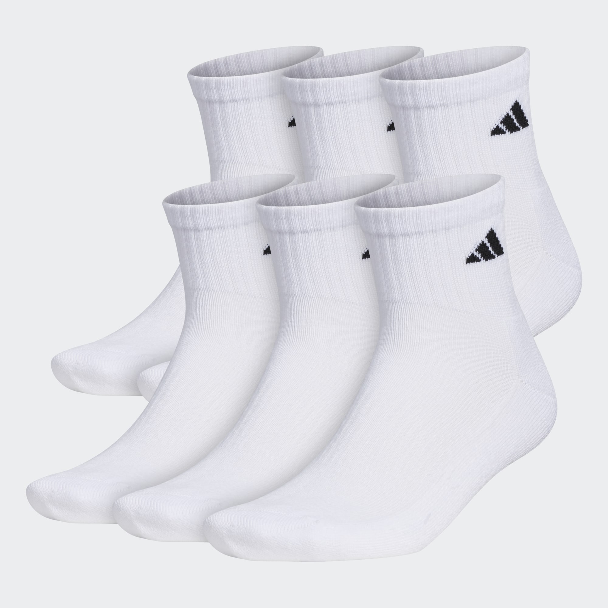 6-Pack Adidas Mens Quarter Socks