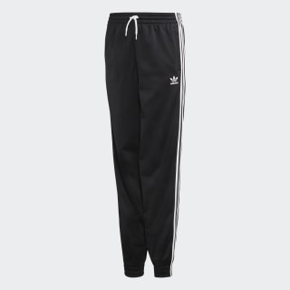 black adidas pants