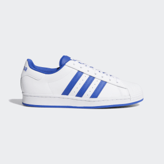 adidas superstar blue and white