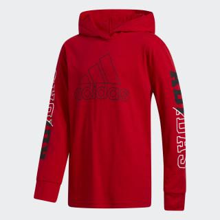 adidas Collegiate Hooded Tee - Red