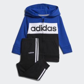 adidas Cotton Fleece Jacket and Jogger Set - Red