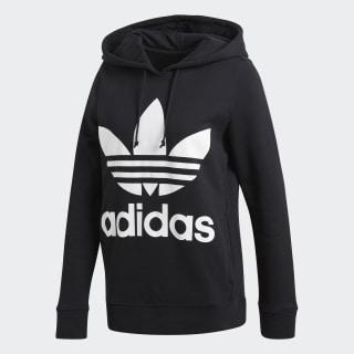 Sweat shirt à capuche Trefoil Noir adidas   adidas France
