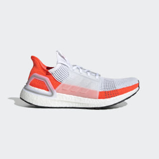 Men S Ultraboost 19 Cloud White And Red Shoes Adidas Us