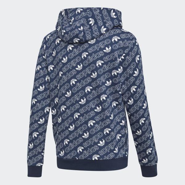 France Bleu À Monogram Trefoil Zw0qr87xz Capuche Veste Adidas 5A4j3RL