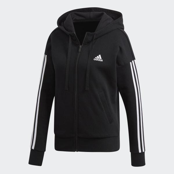 3 Con Italia Nero Stripes Cappuccio Felpa Adidas Essentials xHttd