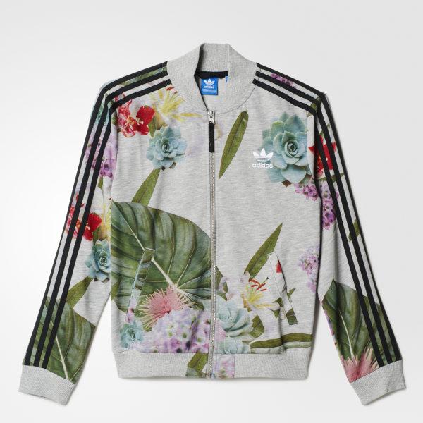Adidas Originals Train Multicolor Tt Campera Mujer Floral wrZ8Axwqv