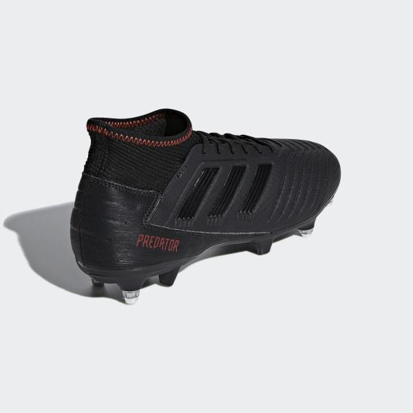 new style 6d0fe 69cde Adidas Italia Nero Calcio Scarpe 3 19 Da Soft Ground Predato