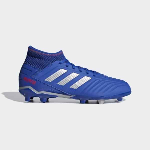 3 Silver Zapatos Bold Predator 19 Met Blue Terreno Firme Active Red de Fútbol FnCSwAq