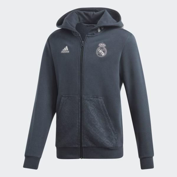 Chaqueta Gris Adidas Madrid Con Capucha España Real rwqIrRf