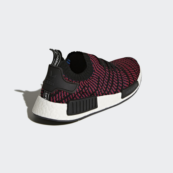 NMD R1 STLT Primeknit Shoes Core Black Red Blue CQ2385  adidas ... bd2a75717