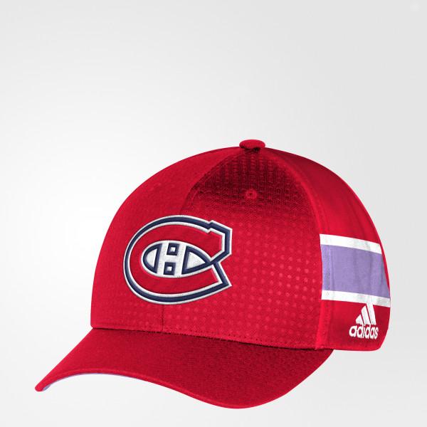 buy popular 911ad cc6a2 ... sale hockey fights cancer canadiens structured flex cap red db9935  34315 cf72a