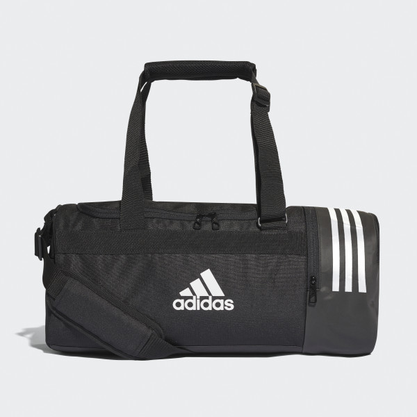 Convertible 3 Stripes Duffel Bag Small Black White Dx1991