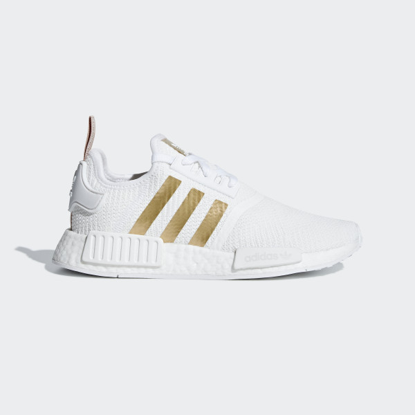 586c3e713 NMD R1 Shoes Cloud White   Copper Metalic   Ash Pearl B37650. Adidas Womens NMD  Runner Gray ...