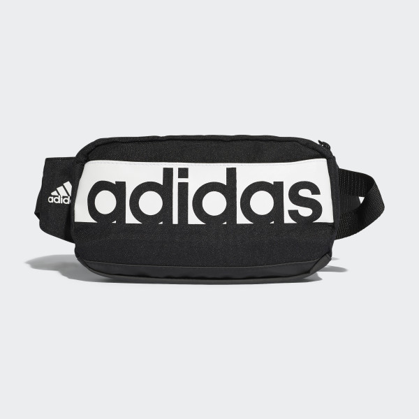 Linear Performance Waist Bag Black White Bb6166