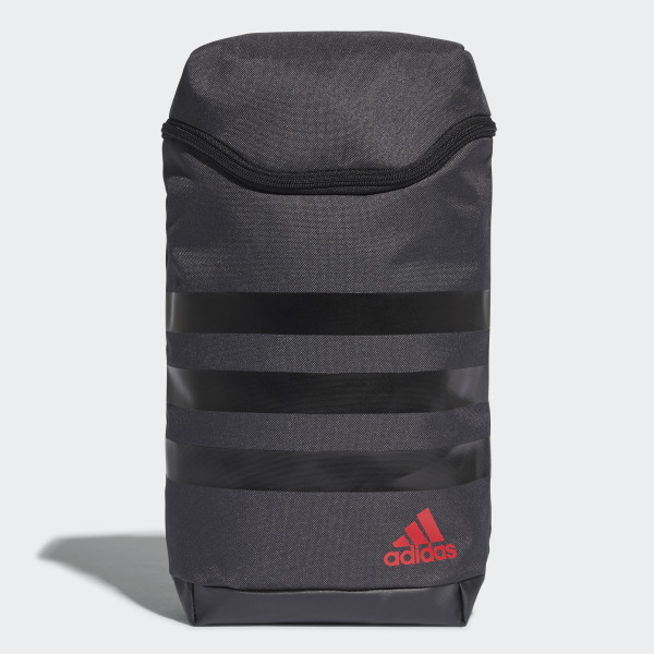 3 Stripes Medium Shoe Bag Grey Black Scarlet Bc2243