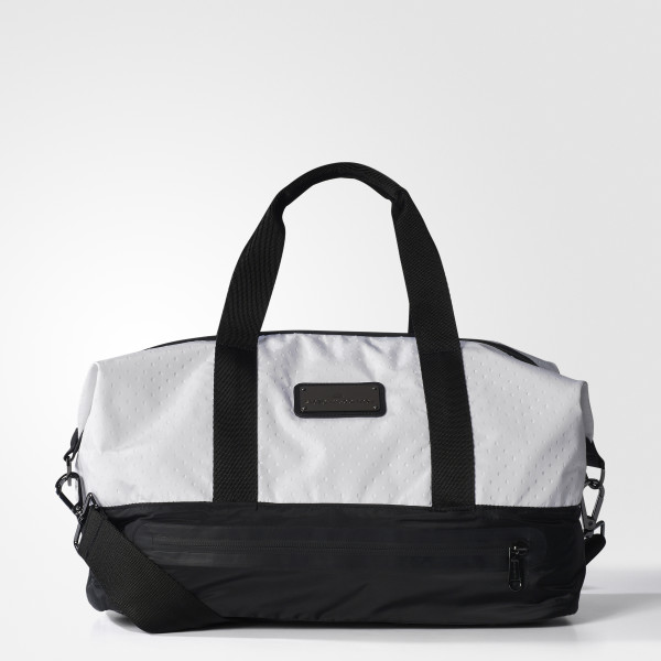 Small Gym Bag Black White Gunmetal Bp6405