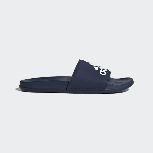 adidas adilette cloudfoam plus logo slides blue adidas us
