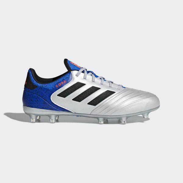 new arrival 430f7 3d5dc Copa 18.2 FG Fußballschuh Silver Met.  Core Black  Football Blue DB2443