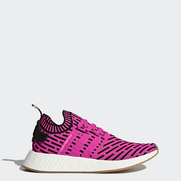 NMD R2 Primeknit Schuh Shock Pink Shock Pink Core Black BY9697 b46db42c77