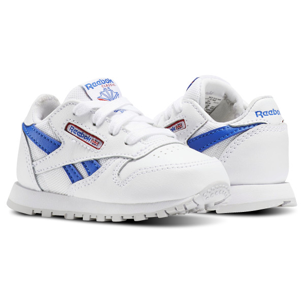 8f0ef7889e31 ... Classic Leather SO - Toddler White Vital Blue Primal Red Light Grey  Heather  Reebok ...