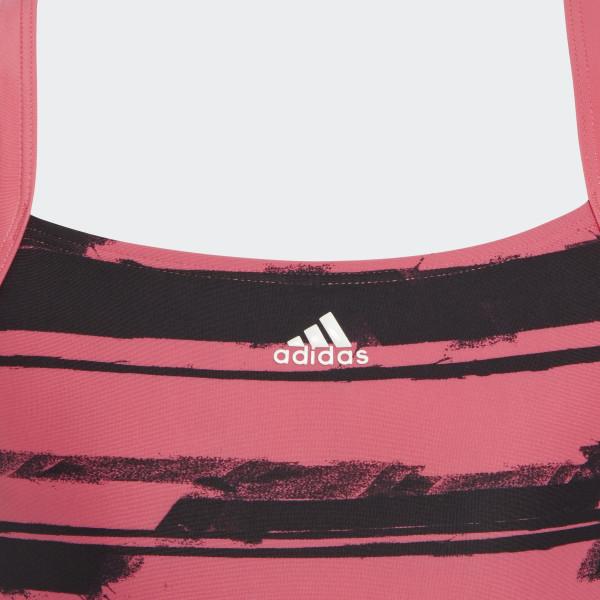 Allover Print Baddräkt Real Pink   White DL8780 84414481d5090