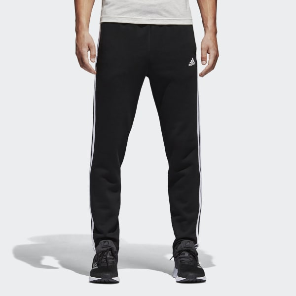Pantalón 3 bandas Essentials Fleece Negro BK7422