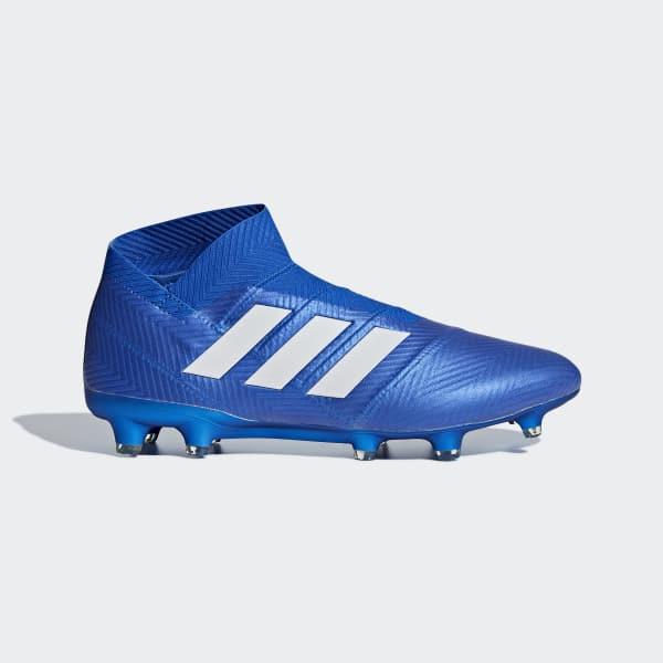 Calzado de Fútbol Nemeziz 18+ Terreno Firme Azul DB2071