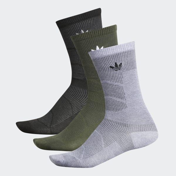 Prime Mesh 2 Crew Socks 3 Pairs Green CJ3883