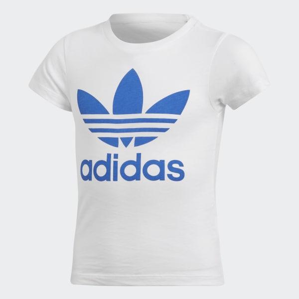 Camiseta Trefoil Branco CD8437