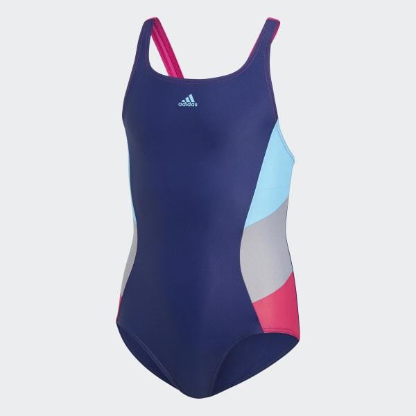 Colorblock Swimsuit Blue DH2427
