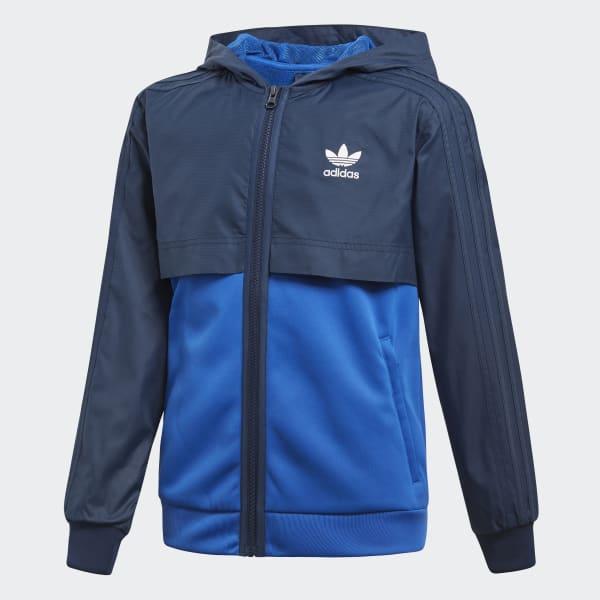 Zip Hoodie blauw CE4078