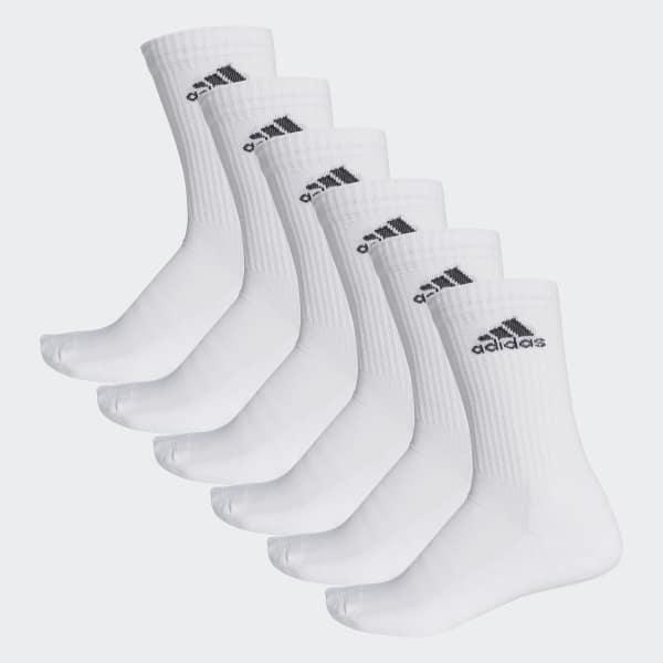 Chaussettes mi-mollet 3-Stripes (lot de 6 paires) blanc AA2294