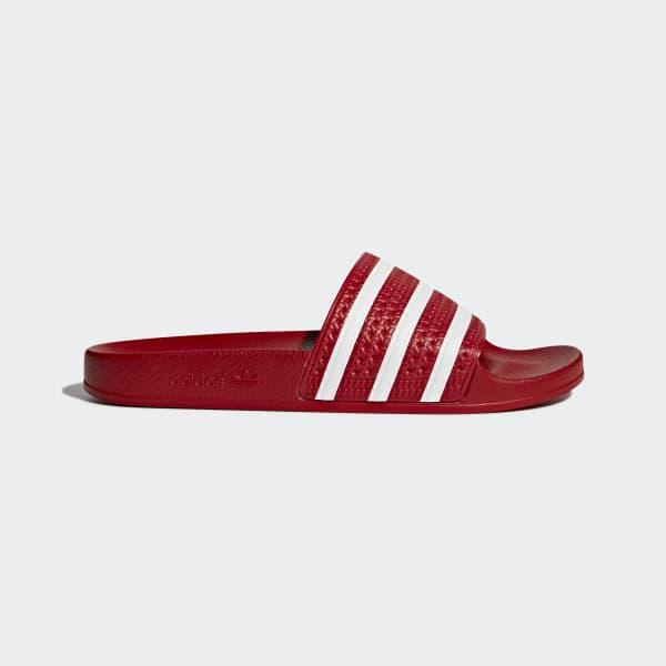Sandale adilette rouge 288193