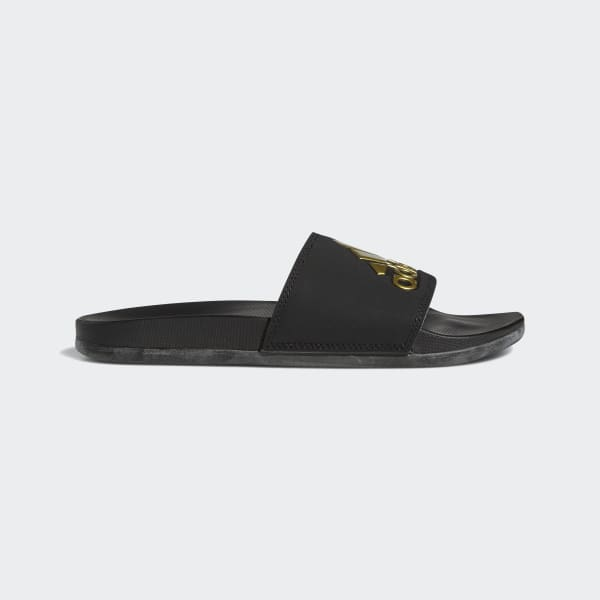 Adilette Cloudfoam Plus Logo Slides Black B41742