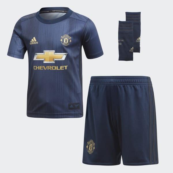Manchester United Mini-Ausweichausrüstung blau DP6018