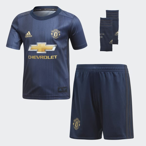 Mini Kit Third Manchester United Blu DP6018