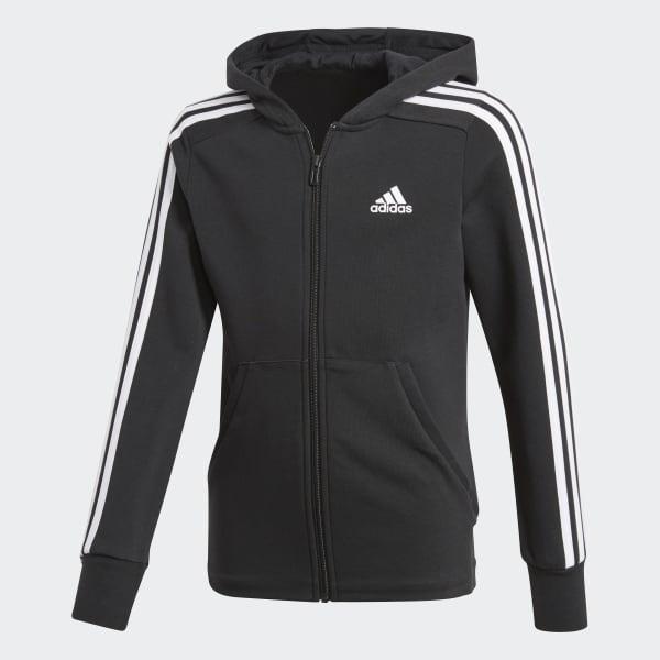 Veste à capuche Essentials 3-Stripes noir BP8622
