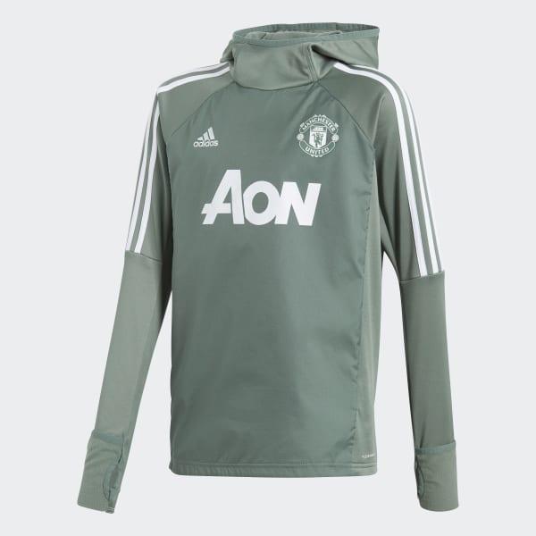 Sudadera con capucha Manchester United Warm Verde BQ8874