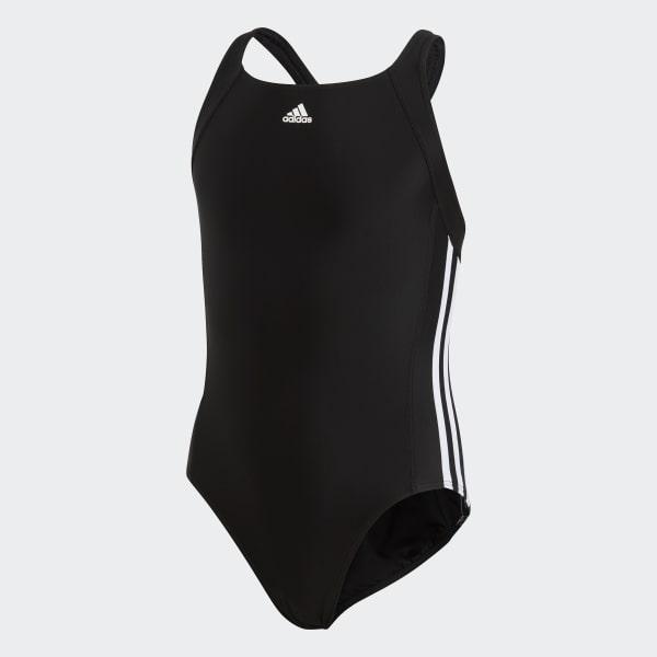 adidas essence core 3 stripes swim suit youth Black BP5449