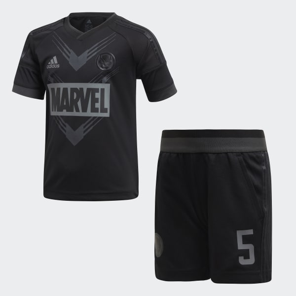 Conjunto Futebol Marvel Black Panther Preto DI0196