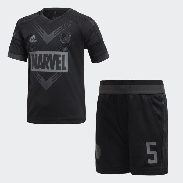 Conjunto para Fútbol Marvel Pantera Negra Negro DI0196