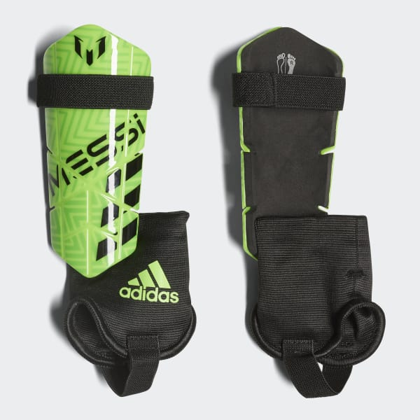 Messi 10 Shin Guards Green CW9706