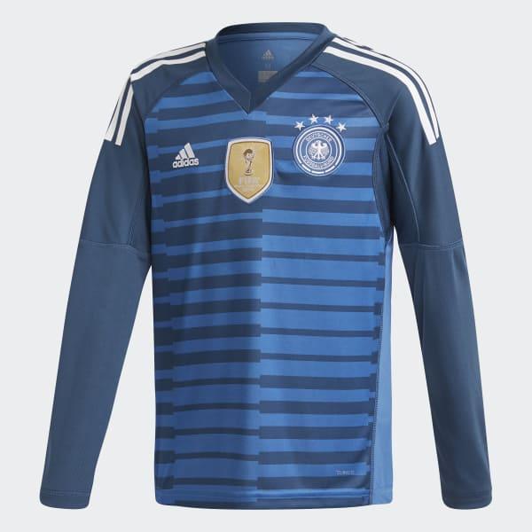 Tyskland Hemmamålvaktströja Blå BQ8399