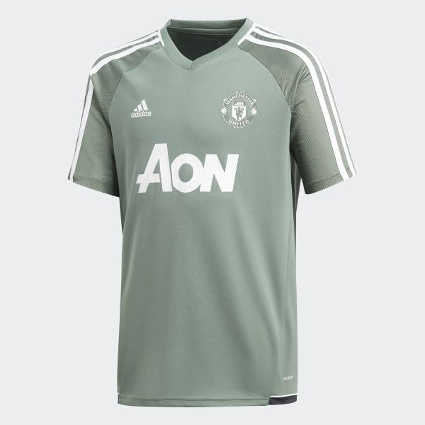 Manchester United Authentiek Trainingsshirt groen BS4450