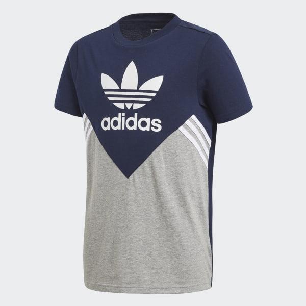 Fleece T-Shirt blau CE1082