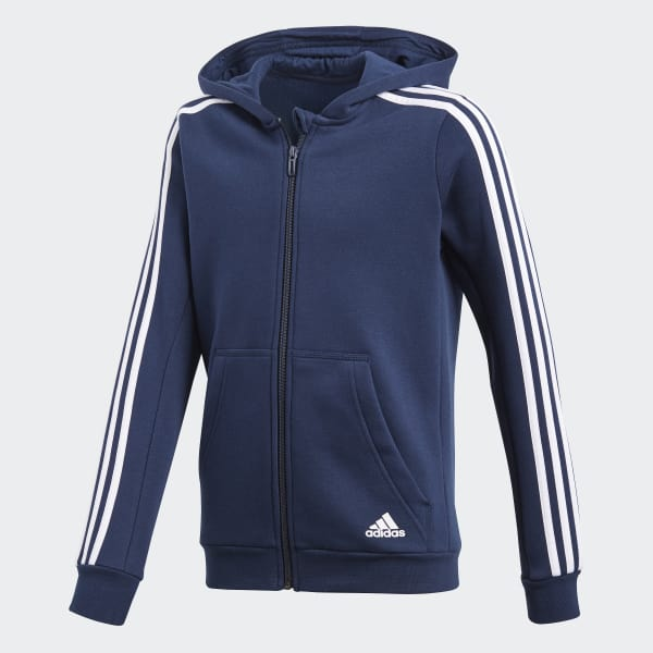 Essentials 3-Stripes Hoodie Blue CF6581